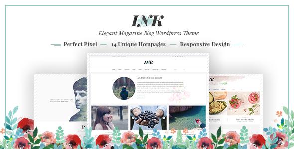 INK – Elegant Magazine Blog WordPress Theme