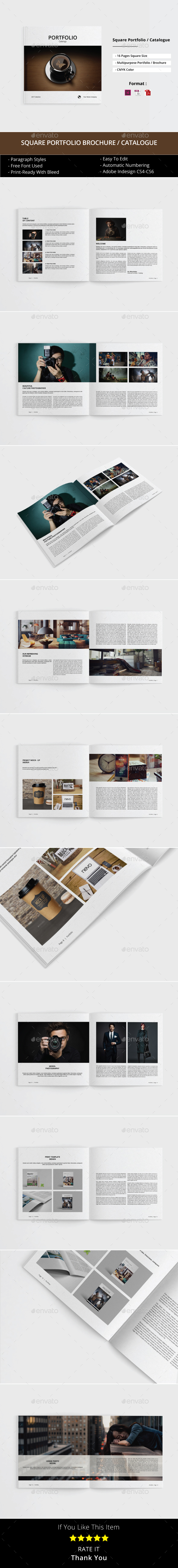 Square Portfolio / Brochure / Catalogue Template - Portfolio Brochures