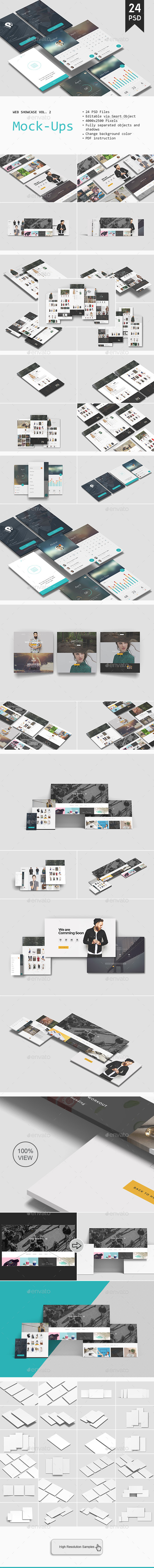 Web Showcase Mockup Vol. 2 - Website Displays