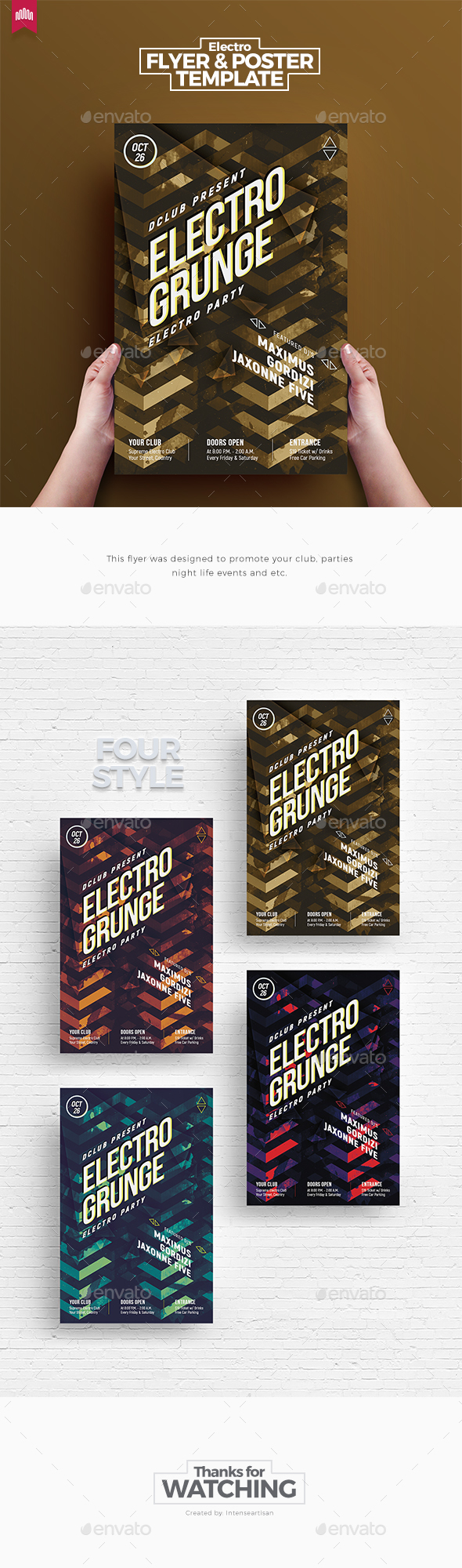 GraphicRiver Electro Grunge Flyer 20647749