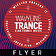 Wavy Line Trance - Flyer - GraphicRiver Item for Sale
