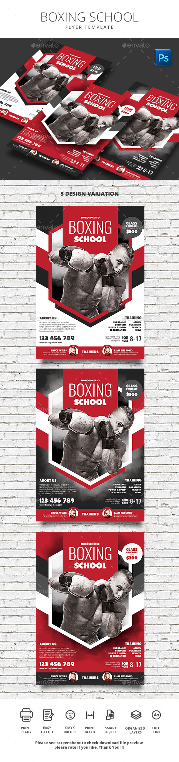GraphicRiver Boxing School 20647780