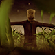 Halloween Scarecrow In A Cornfield - VideoHive Item for Sale