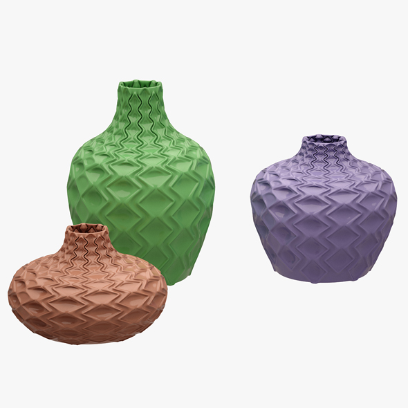 3DOcean Decorative Vases 03 20647811