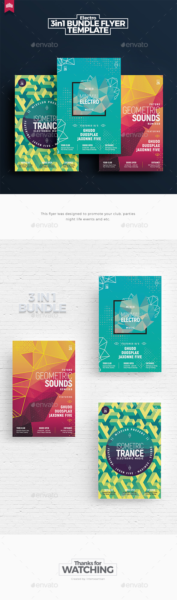GraphicRiver Electro Bundle 8 Flyer Template 20647839