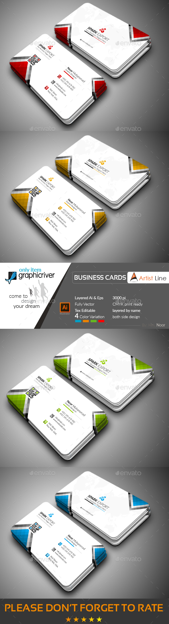 GraphicRiver Corporate Business Card 20647894