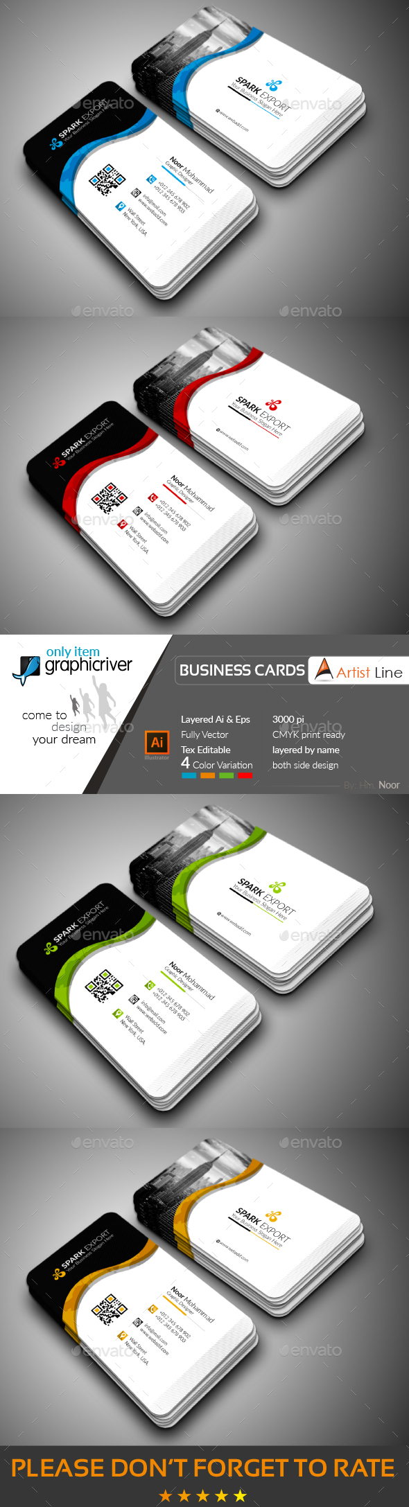GraphicRiver Exclusive Business Card 20647909