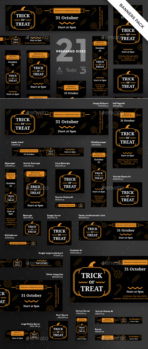 GraphicRiver Trick Or Treat Banner Pack 20647936