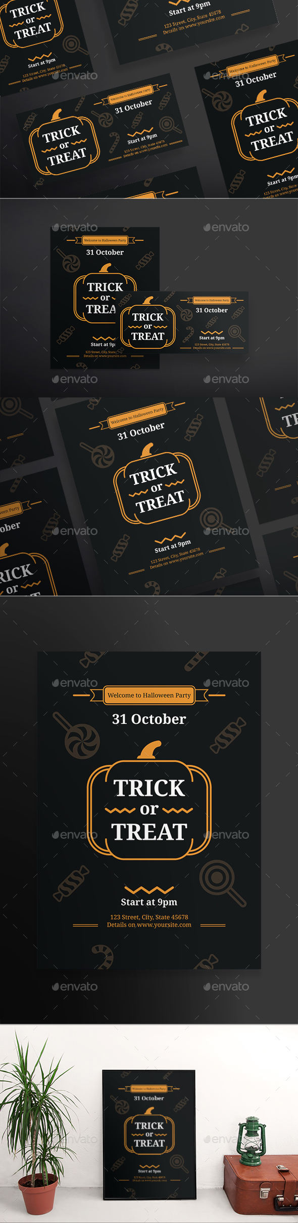 GraphicRiver Trick Or Treat Flyers 20647939