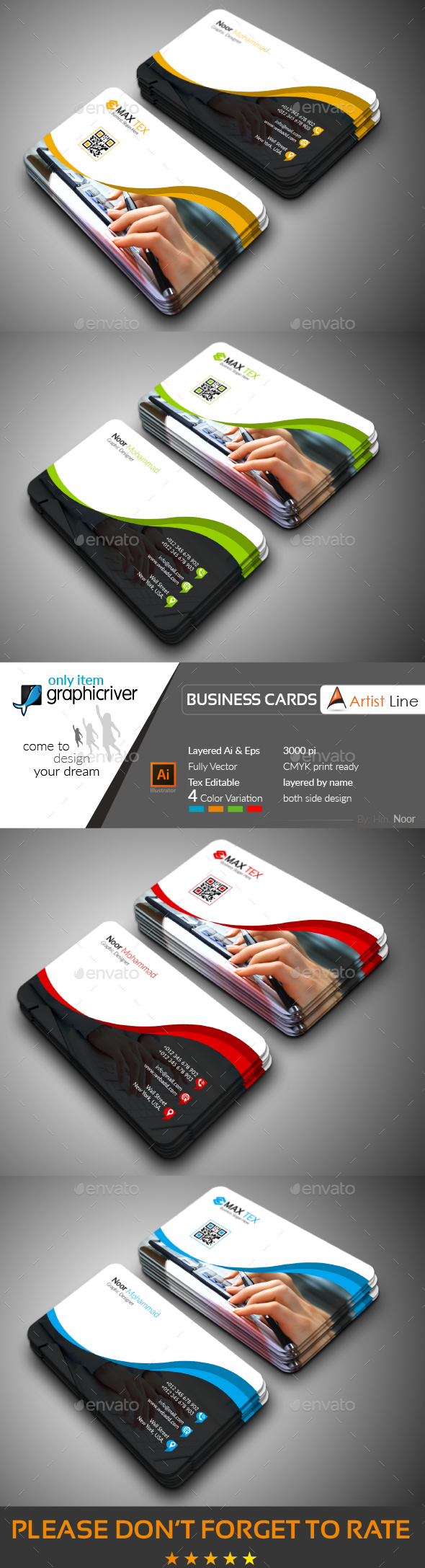 GraphicRiver Photography Business Card 20647947
