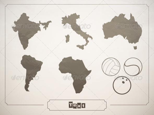 Vector set geographical countries - Miscellaneous Conceptual