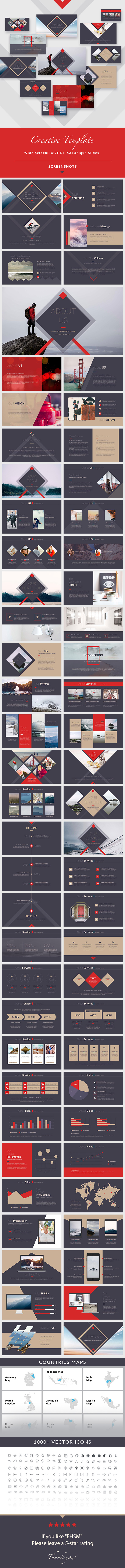 GraphicRiver EHSM Creative Keynote Presentation Template 20648011