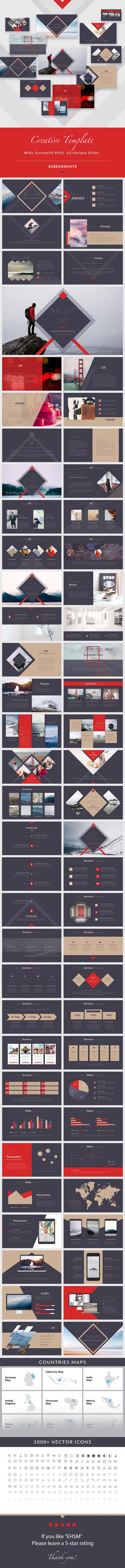 EHSM - Creative PowerPoint Presentation Template - Creative PowerPoint Templates