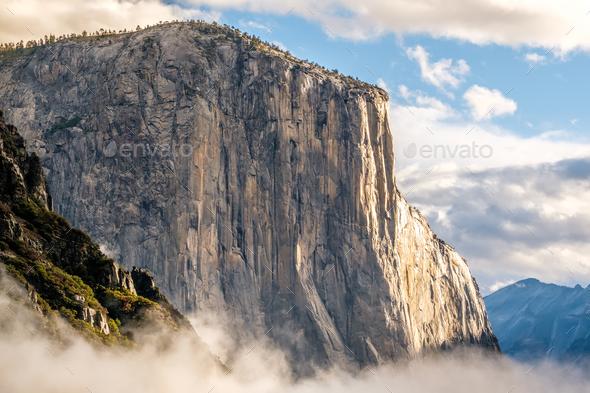El Capitan rock in Yosemite National Park - Stock Photo - Images