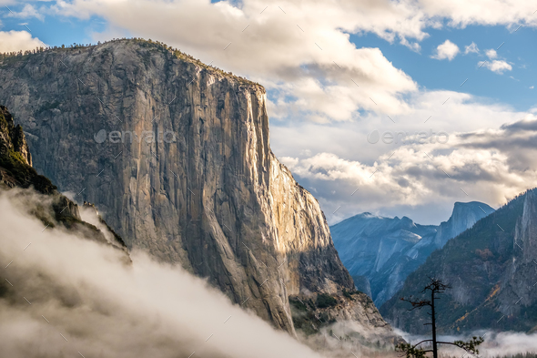 El Capitan rock in Yosemite National Park - Stock Photo - Images