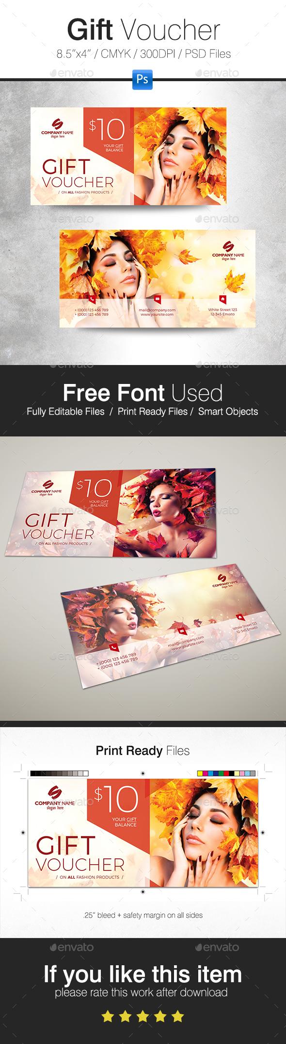Autumn Gift Voucher - Cards & Invites Print Templates