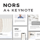 NORS A4 US Letter Vertical Keynote Template - GraphicRiver Item for Sale