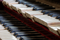 Abstract detail of old, broken and dusty organ keys - PhotoDune Item for Sale