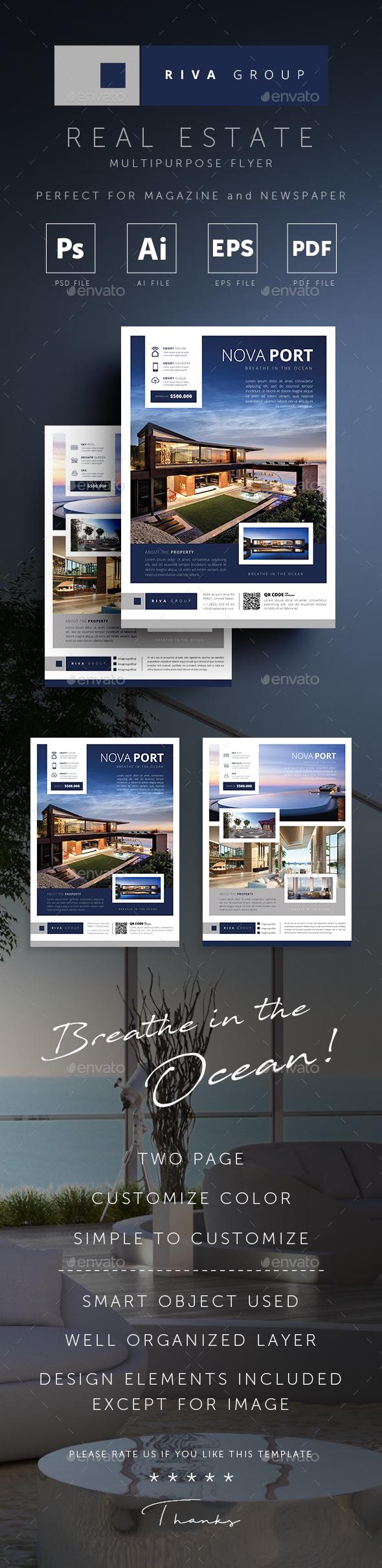 GraphicRiver Riva Real Estate Magazine Newspaper Flyer 20627685