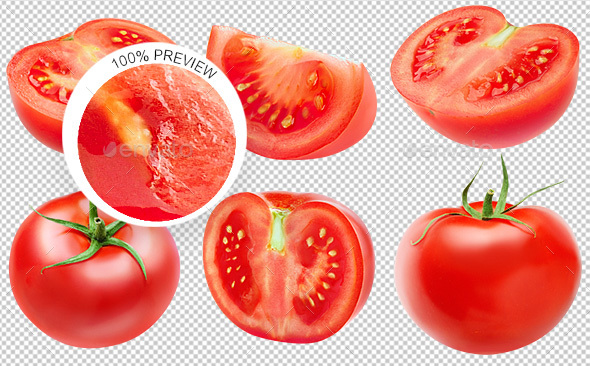GraphicRiver Collection of Isolated Tomatoes 20648482