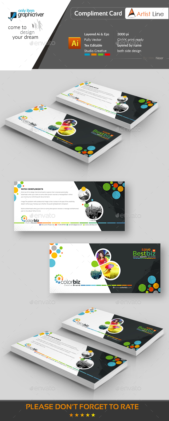 GraphicRiver Modern Compliment Card 20648593