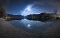 Night in Alpsee lake in Germany. Beautiful landscape - PhotoDune Item for Sale
