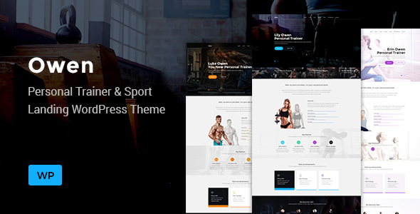 Owen - Personal trainer & Sport  One Page Landing WordPress theme - Marketing Corporate