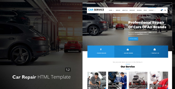Image of Avados - Car Repair HTML template
