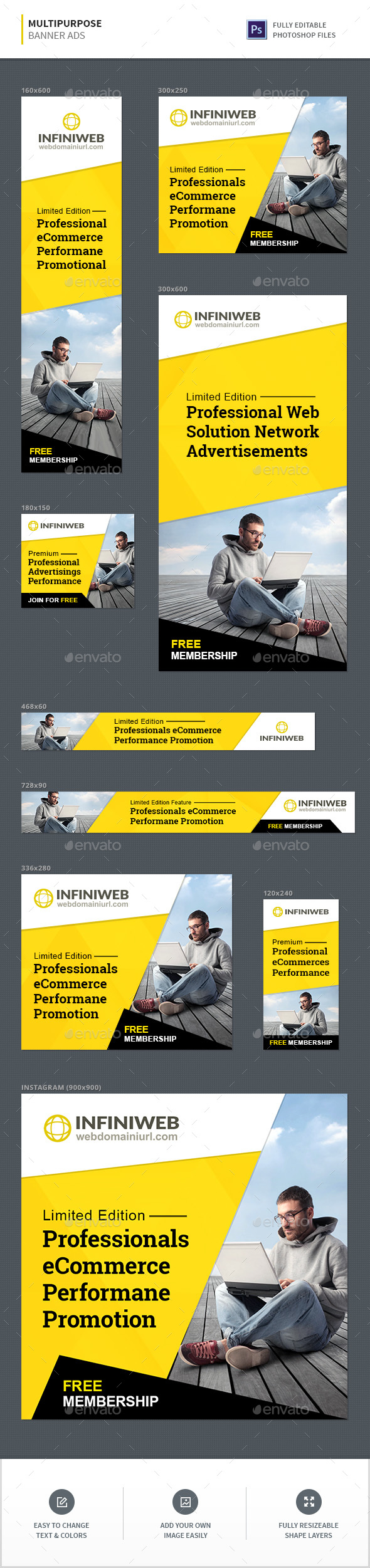 GraphicRiver Multipurpose Ad Banners 20648853