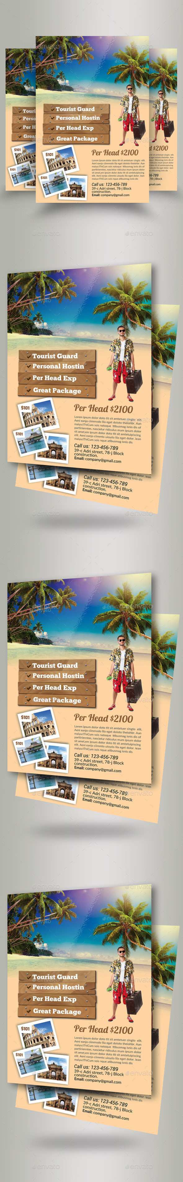 Tour Travel Agency Flyer Template - Holidays Events