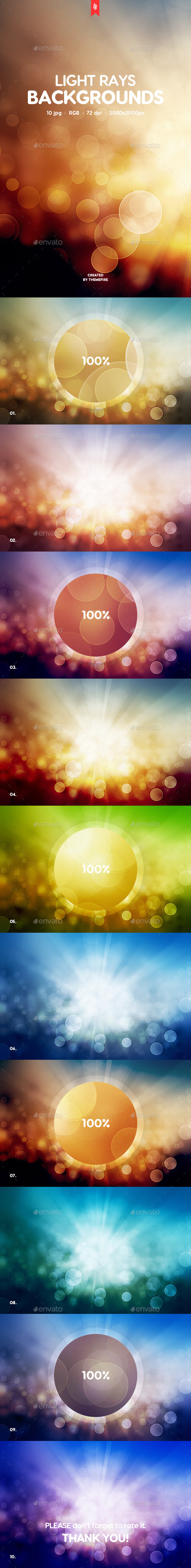 Light Rays Backgrounds - Abstract Backgrounds