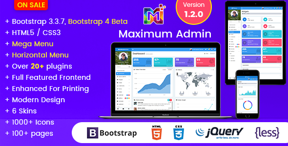 Maximum - Responsive Bootstrap 4 Admin Dashboard Template