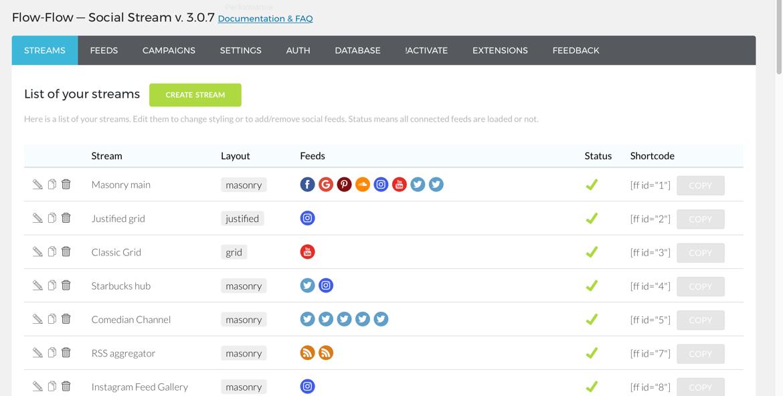 Flow-Flow - граббер контента из социальных сетей для WordPress