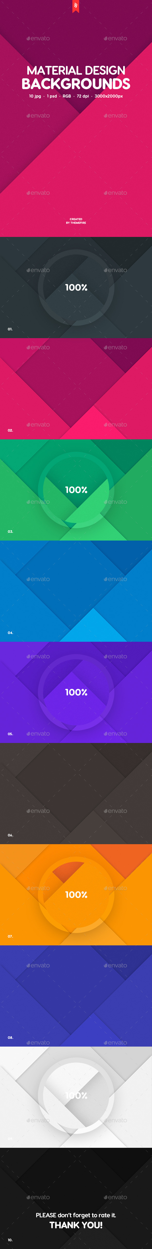 10 Material Design Backgrounds - Patterns Backgrounds