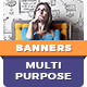 Multipurpose HTML5 Banner Templates | Animated Ads Google