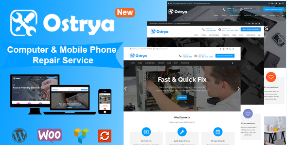 Ostrya - Computer Repair & Mobile Phone Repair Service WordPress Theme