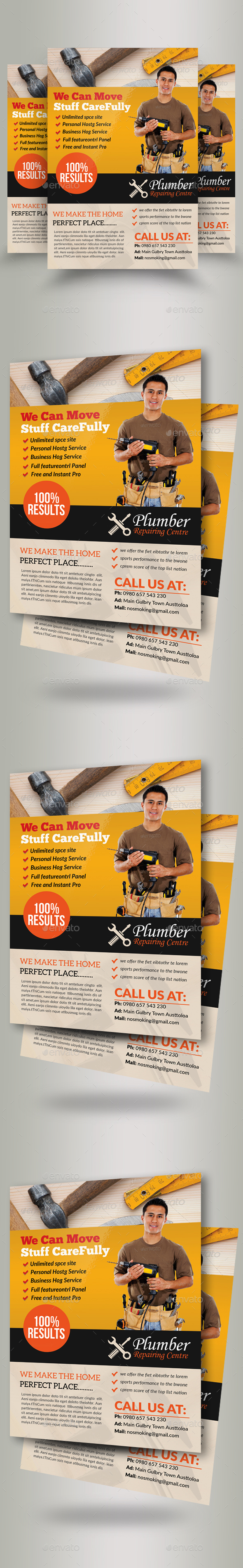 GraphicRiver Handyman & Plumber Services Flyer 20649041