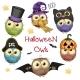 Six Halloween Owls