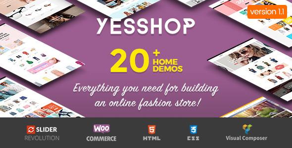 Yesshop - Responsive Multipurpose WordPress WooCommerce Theme
