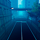 Dynamic Flight In The City Street