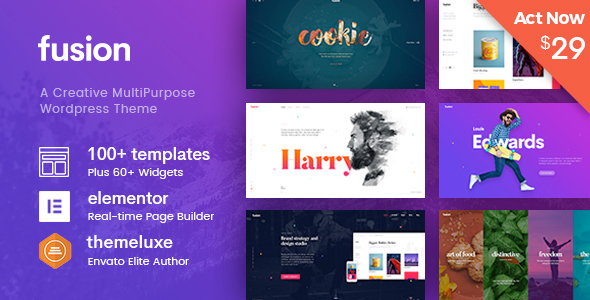 Fusion - Creative Multi-Purpose WordPress Theme