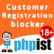 Prestashop PHPIST Customer Registration Blocker