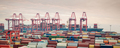 container terminal at dusk - PhotoDune Item for Sale