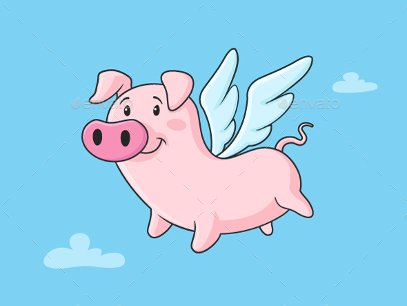 GraphicRiver Flying Pig 20649322