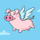 Flying Pig - GraphicRiver Item for Sale