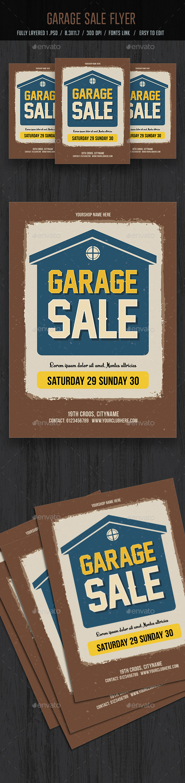 GraphicRiver Garage Sale Flyer Poster 20649356