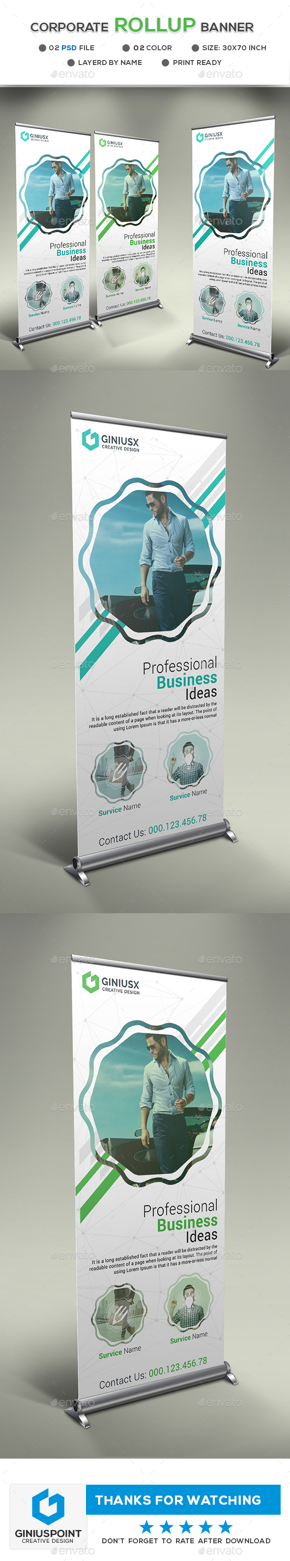 GraphicRiver Corporate Roll-Up Banner 20649357