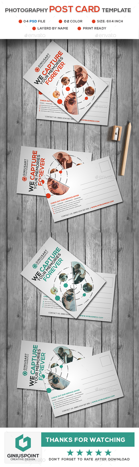 Photography Post Card Template - Cards & Invites Print Templates