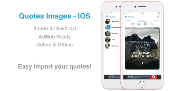 CodeCanyon Quotes Image Native iOS App for Images Quotes Motivation Money ecc 20649441