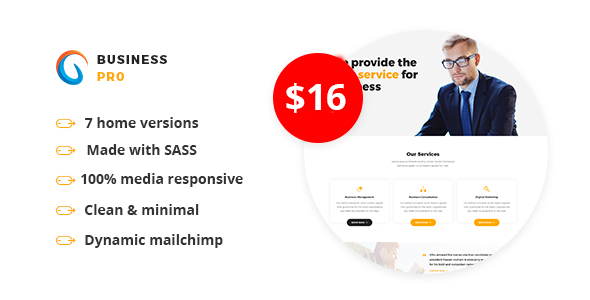 Image of Business Pro - Multipurpose Business HTML Template